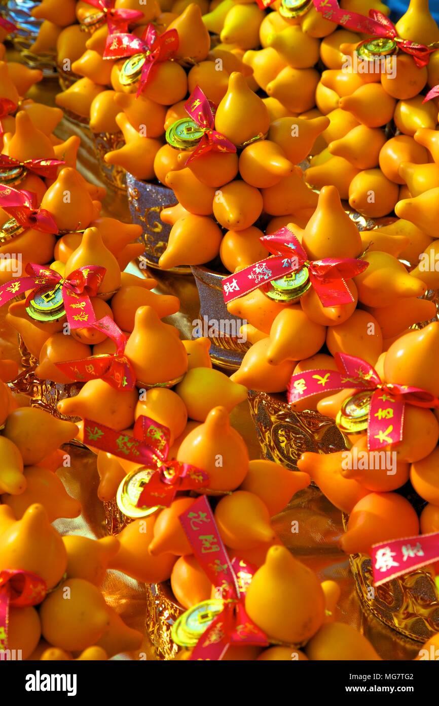 Chinese New Year Decorations, Hong Kong, China, South East Asia, - Stock Image