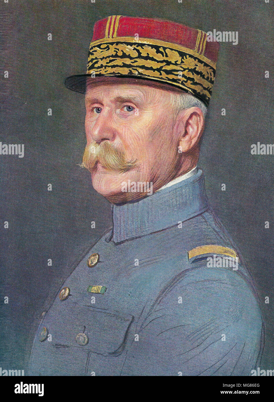 Maréchal Pétain in 1926 by Marcel Baschet  Henri Philippe Benoni Omer Joseph Pétain (1856 – 1951), Philippe Pétain, Marshal Pétain, French general officer who attained the position of Marshal of France at the end of World War I, during which he became known as The Lion of Verdun, and in World War II served as the Chief of State of Vichy France from 1940 to 1944 - Stock Image