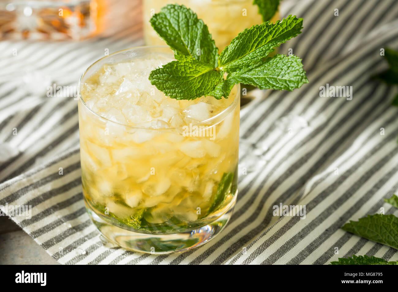 Homemade Derby Mint Julep with Kentucky Bourbon - Stock Image