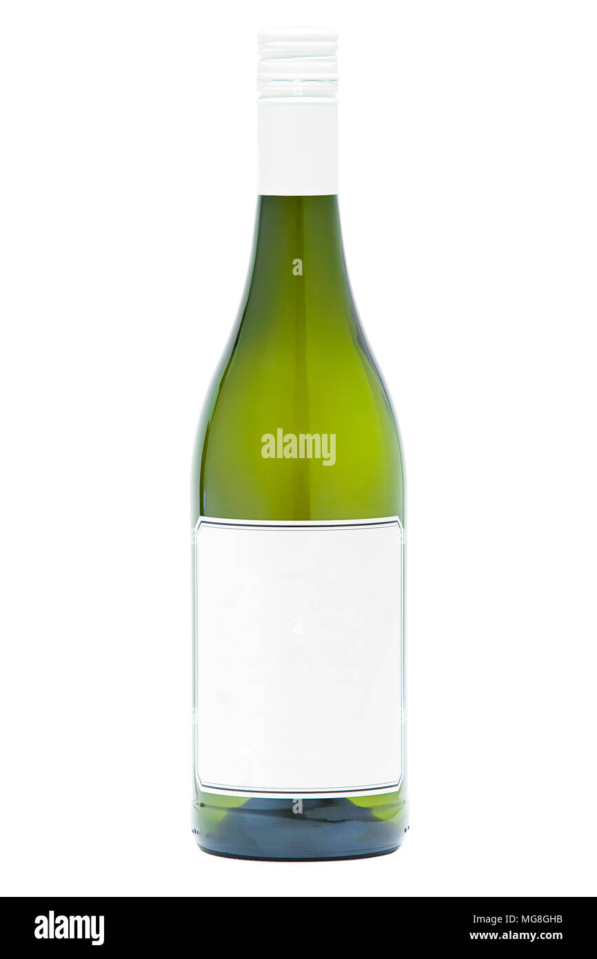a plain white wine bottle template stock photo 182126823 alamy