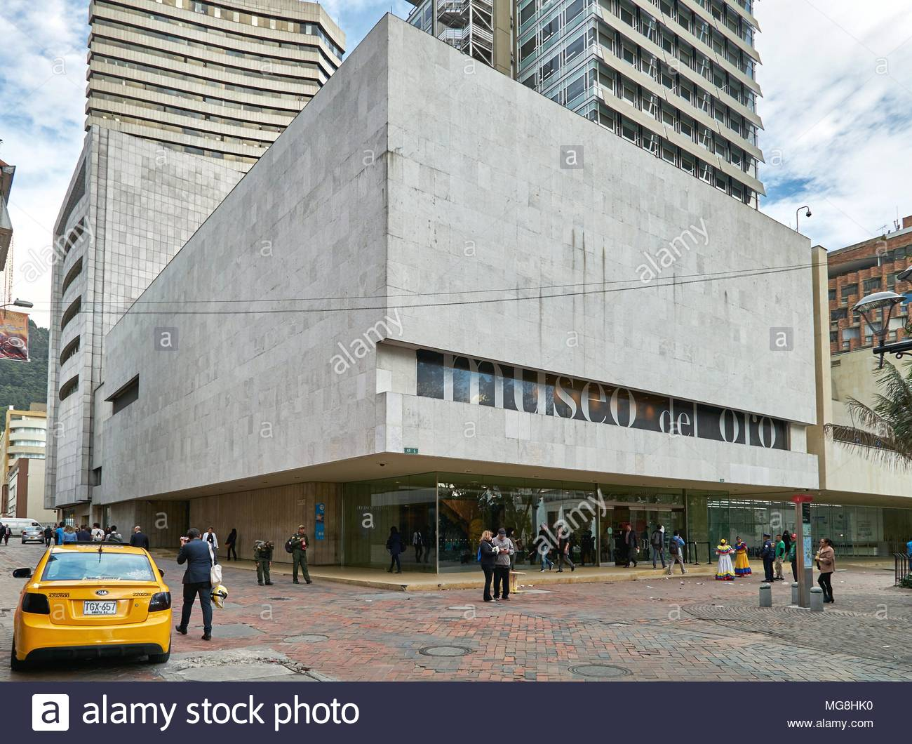 outside view of Museo del Oro - Stock Image