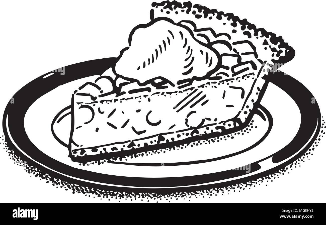 Piece Of Pie Retro Clipart Illustration Stock Vector Art