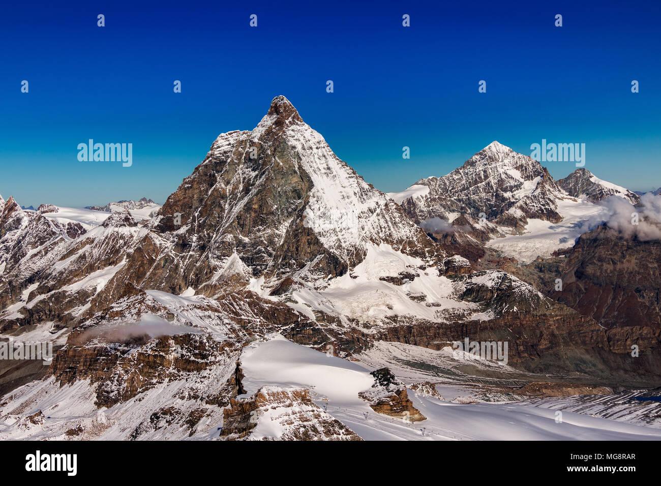 Zermatt. Matterhorn. Switzerland. Schweiz. - Stock Image