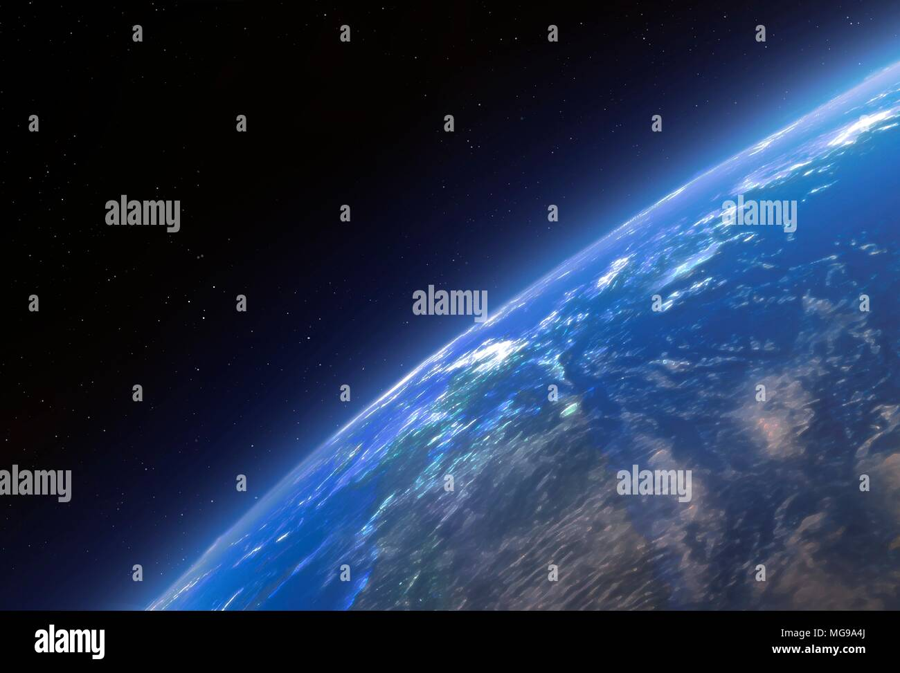 The Earth seen from space, illustration. - Stock Image