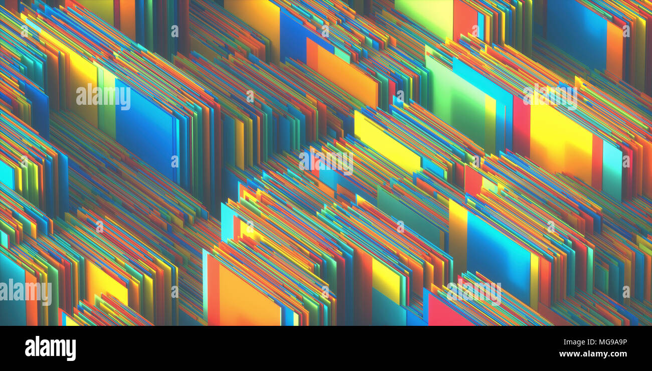 Multicoloured abstract layers, illustration. - Stock Image