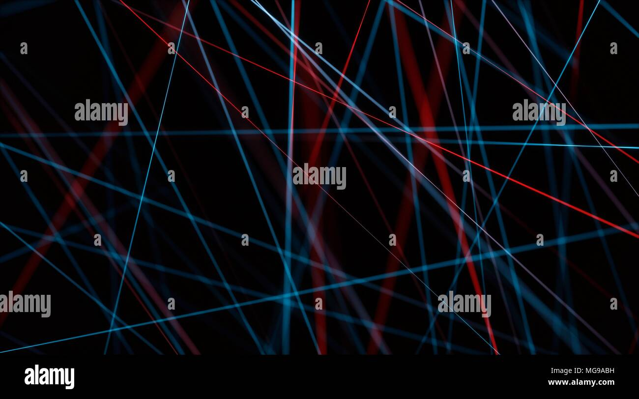 Abstract network of lines, illustration. - Stock Image