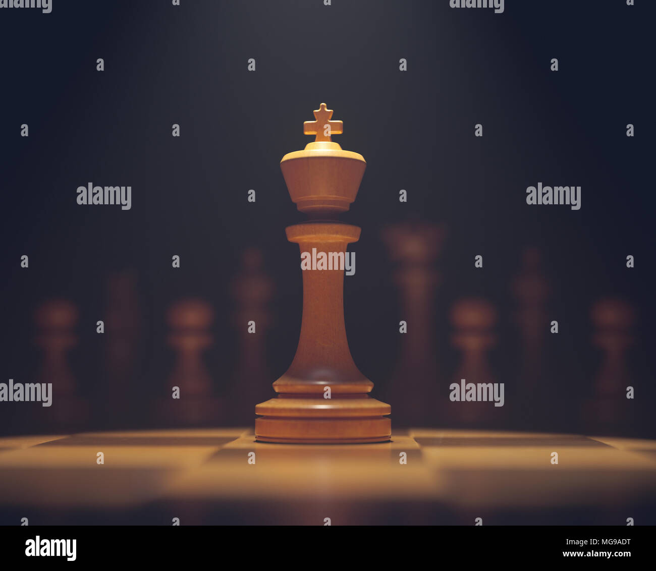 Chess king on board. - Stock Image