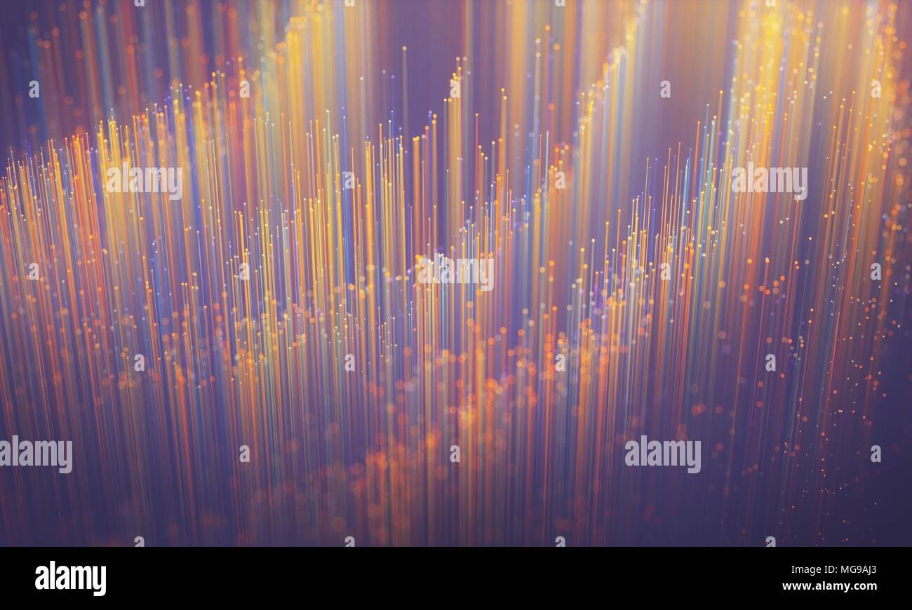 Fibre optics, illustration. - Stock Image