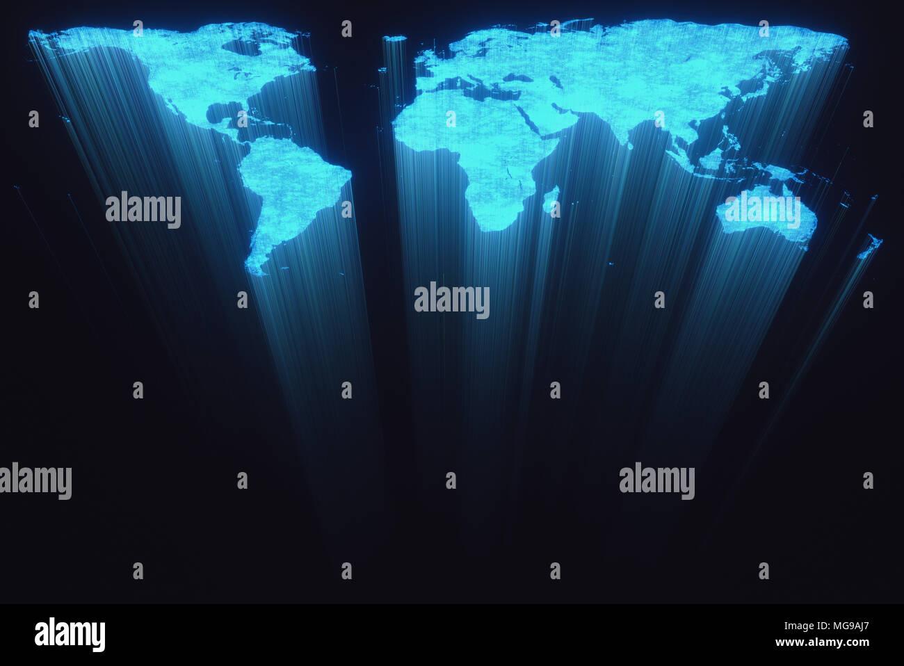 World map, illustration. - Stock Image