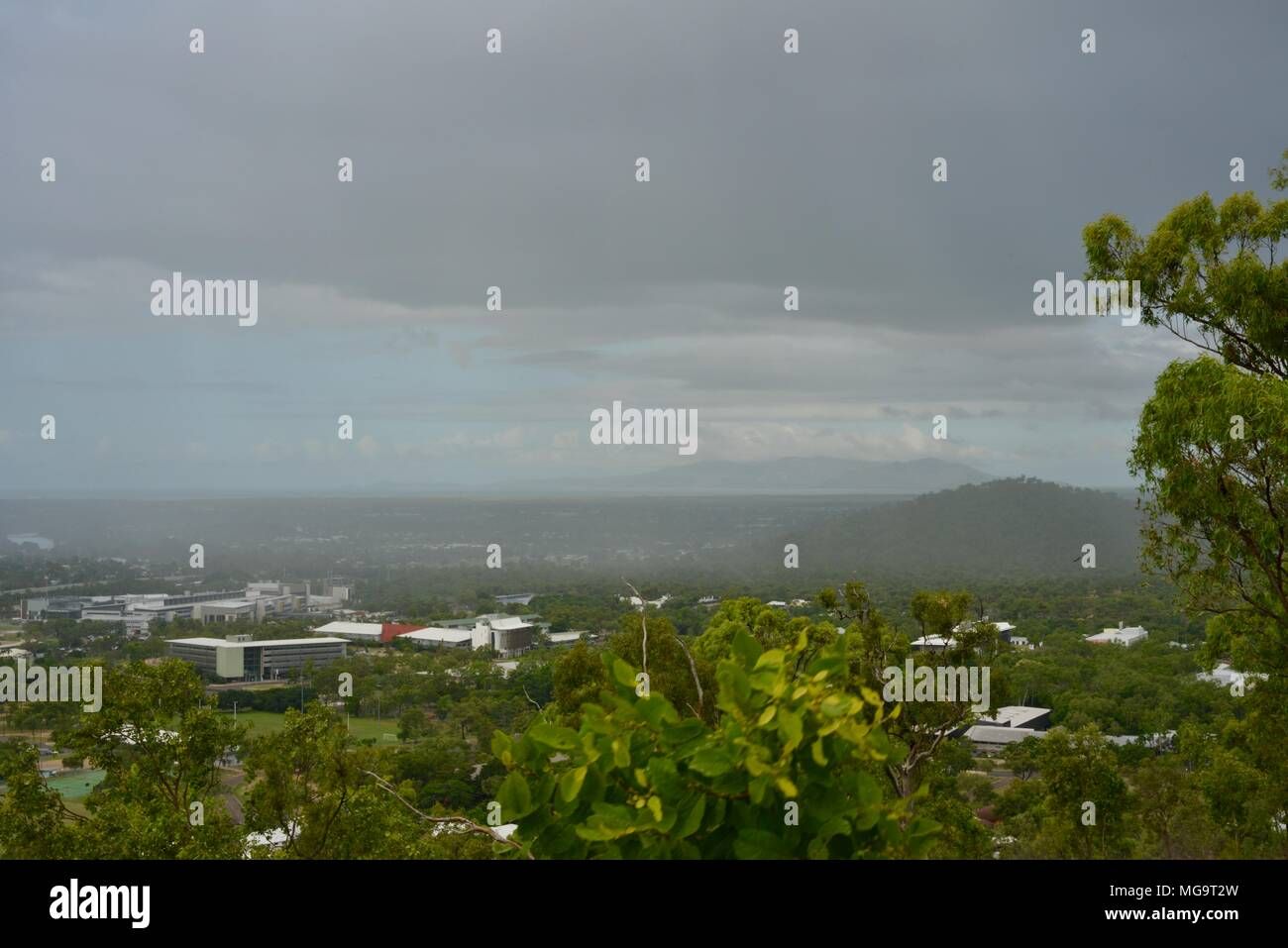 Views of townsville from the Mount Stuart hiking trails, Townsville, Queensland, Australia - Stock Image