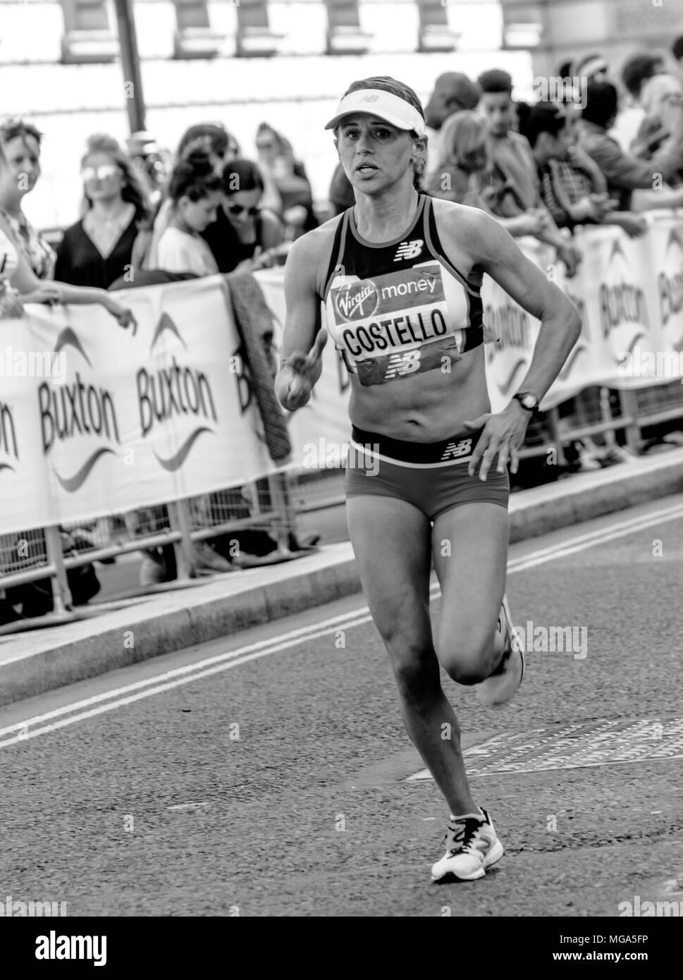 Virgin Marathon Runners, London 2018 - Stock Image