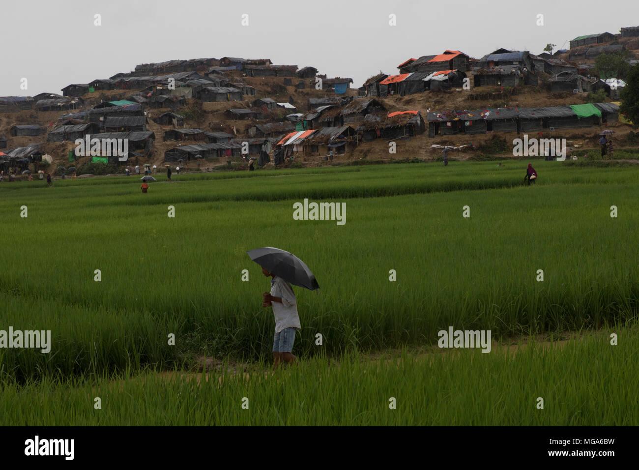 The Rohingya refugee crisis in Bangladesh - Stock Image