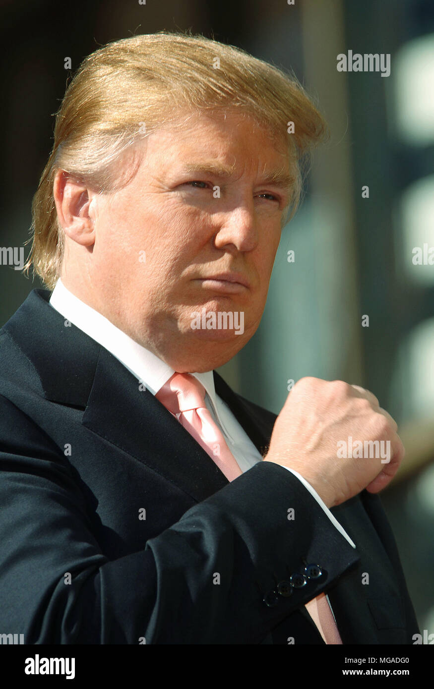 Donald Trump received a Star on the Hollywood Walk of Fame In Los Angeles.. January 16, 2007.  portrait headshot - Stock Image