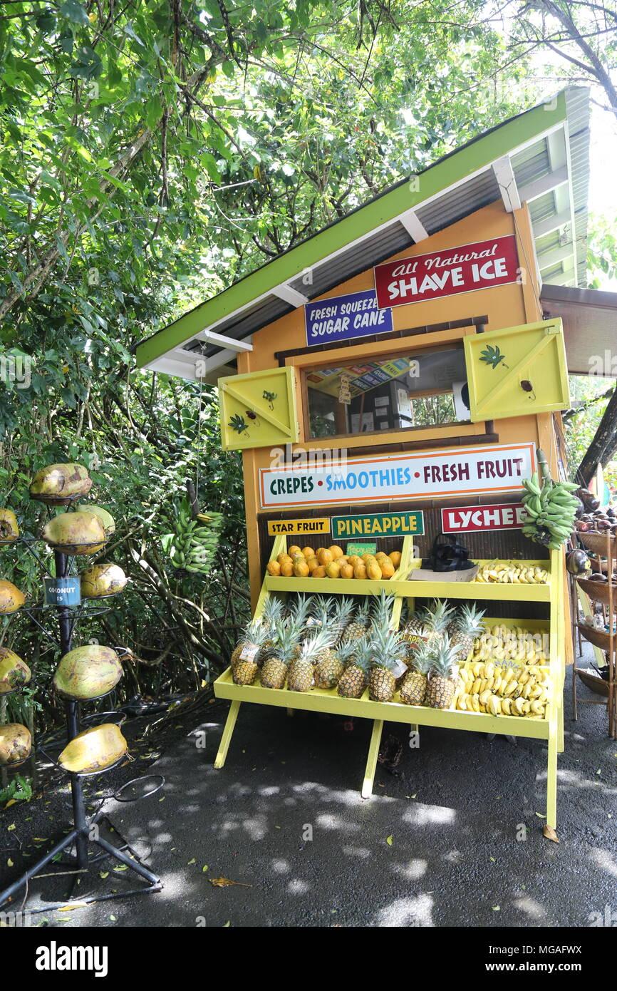 Huelo Lookout, Hana, Maui Stock Photo