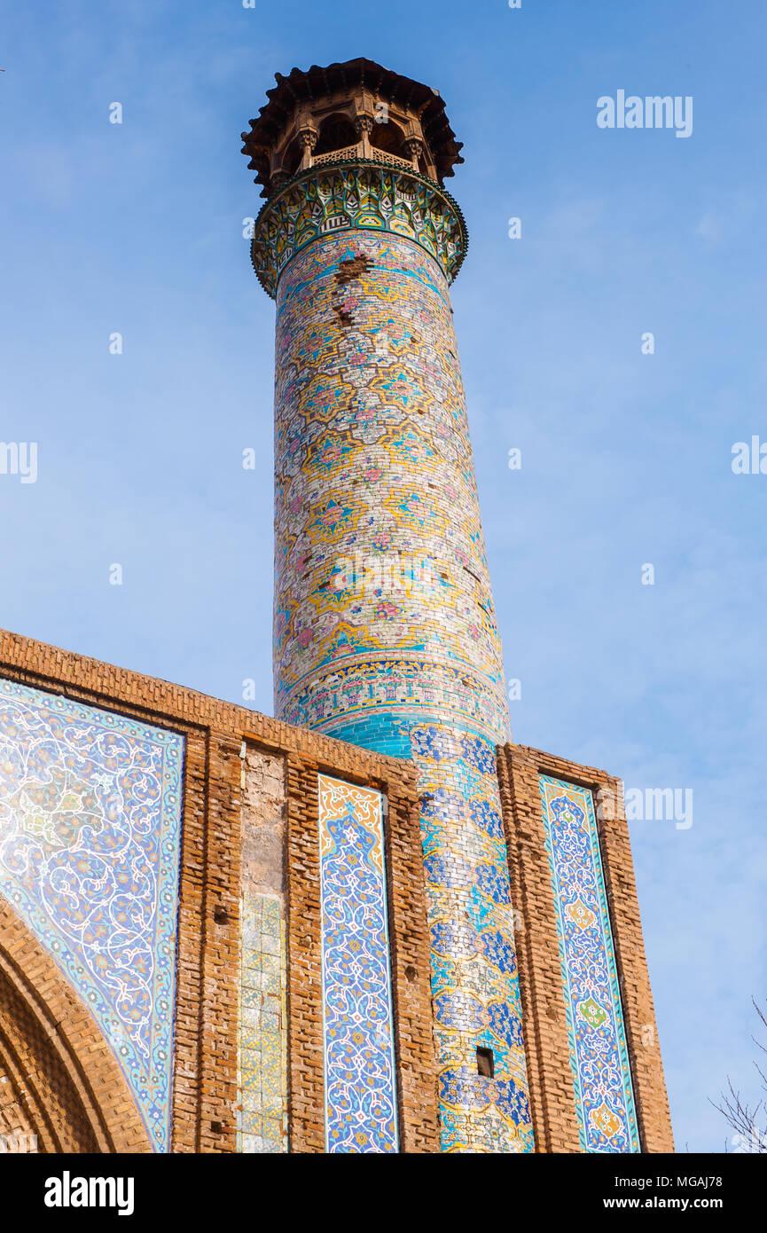 Mosque Jameoji in Qazvin, Iran - Stock Image