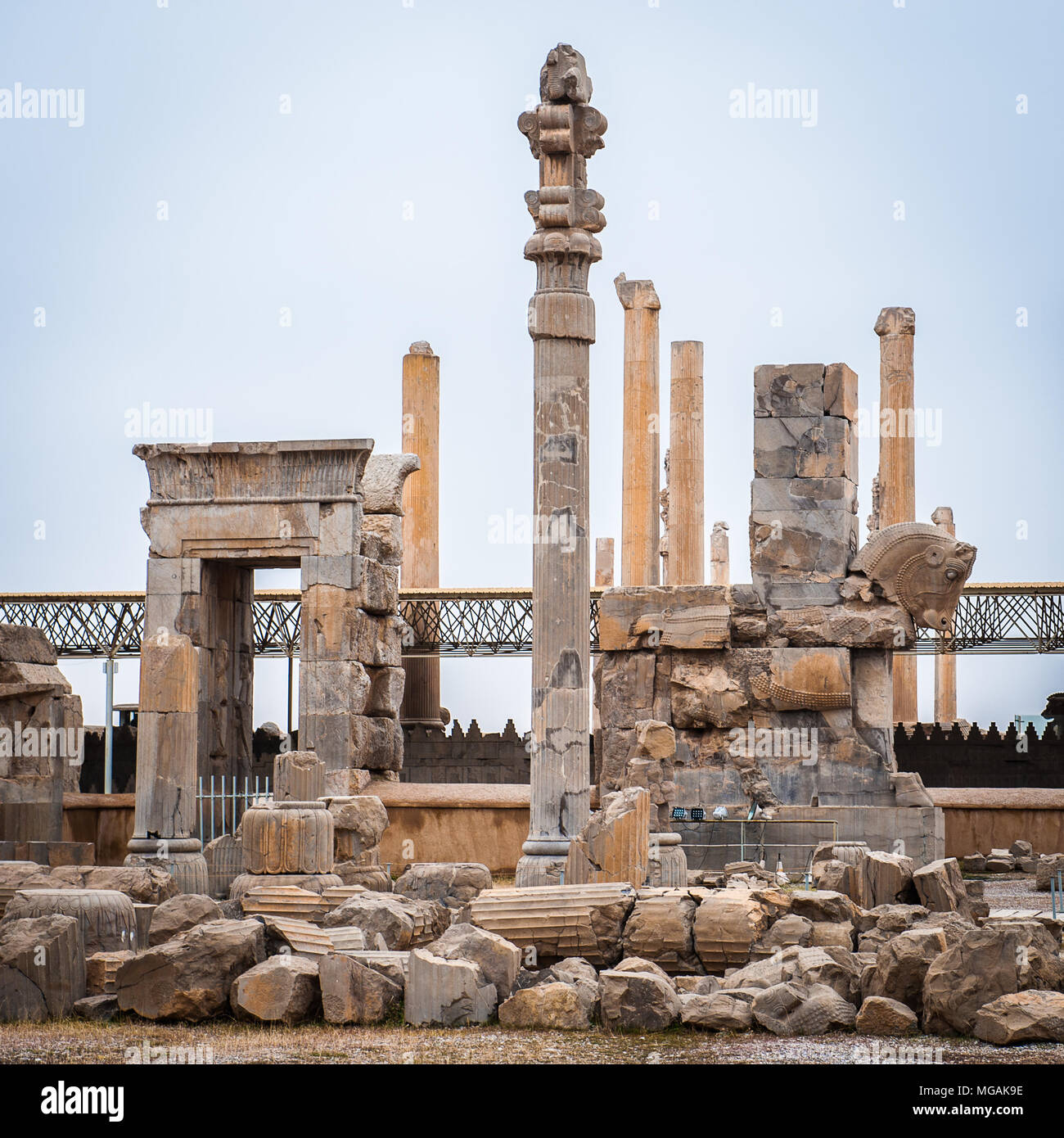Hall Of The 100 Columns In The Ancient City Of Persepolis Iran Unesco World Heritage Site Stock Photo Alamy