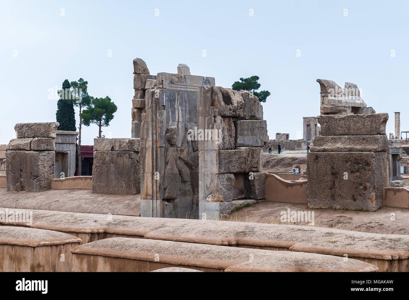 Apadana Of Xerxes In The Ancient City Of Persepolis Iran Unesco World Heritage Site Stock Photo Alamy