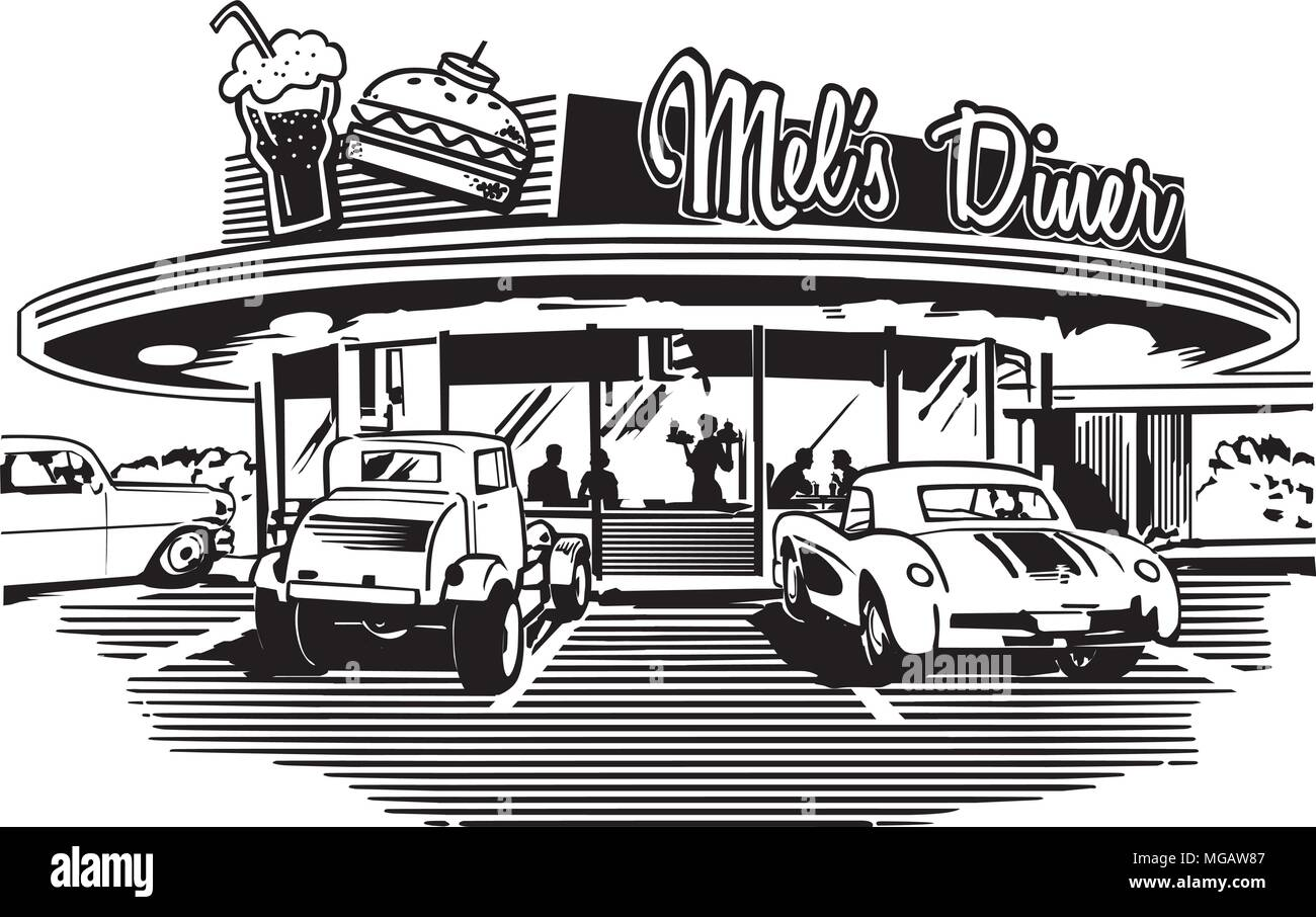 50s Diner Illustration High Resolution Stock Photography And Images Alamy