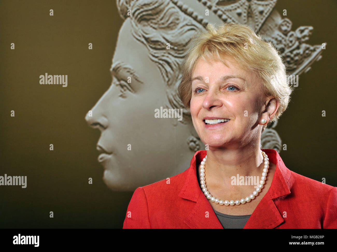 Moya Greene, Chief Executive of the Royal Mail, photographed in their London offices, Unilever House. - Stock Image