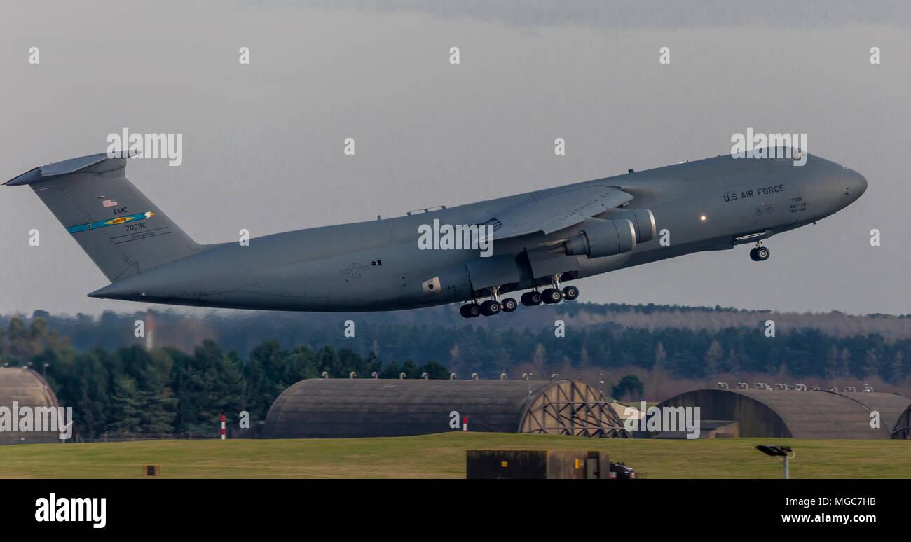 USAF C5m Super Galaxy - Stock Image