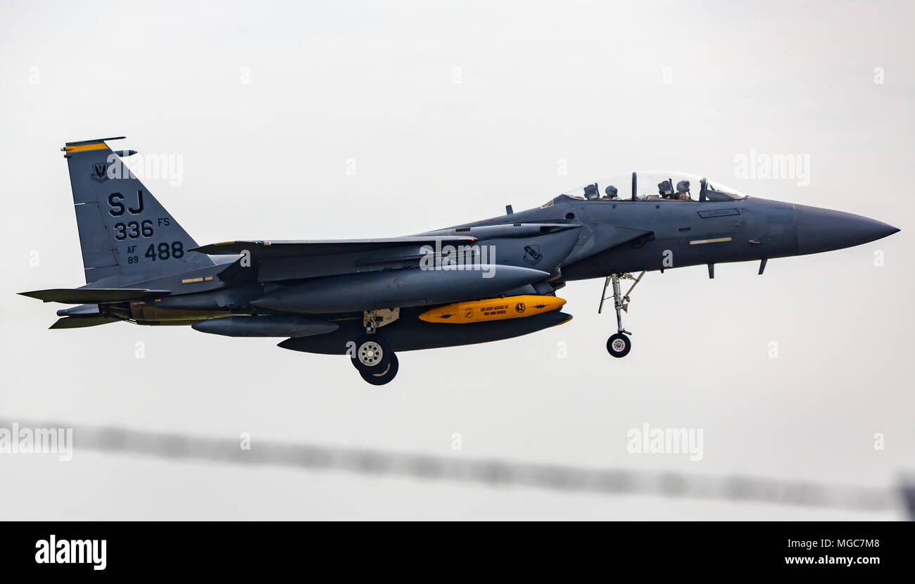 Seymour Johnson F15 336th FS - Stock Image