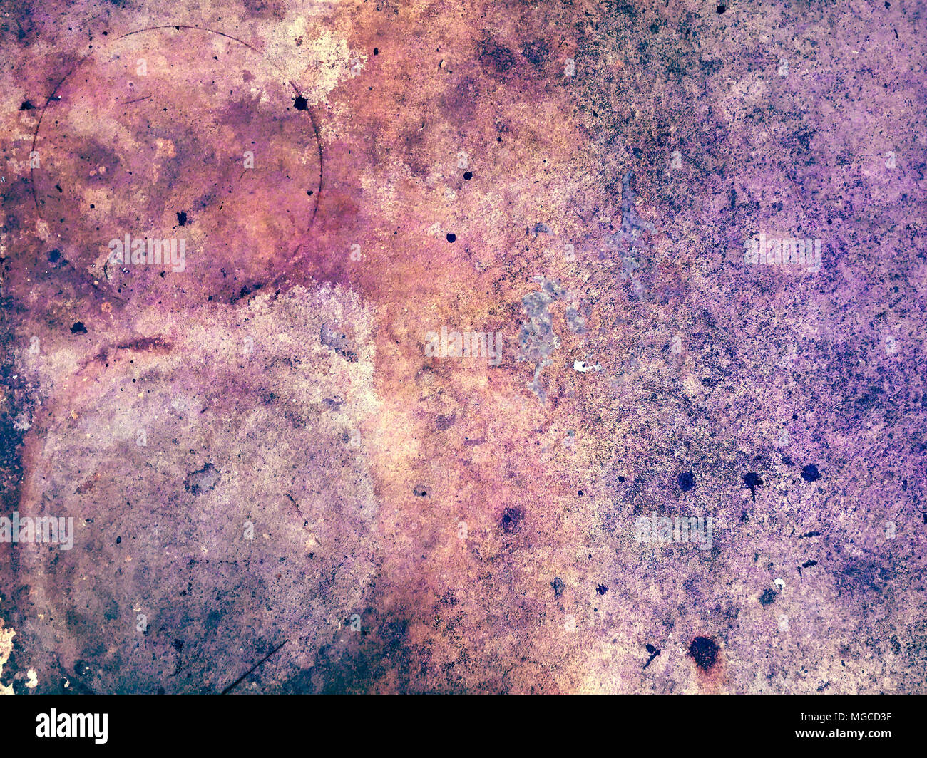 Cement surface grunge texture, good for background design slide presentation. - Stock Image