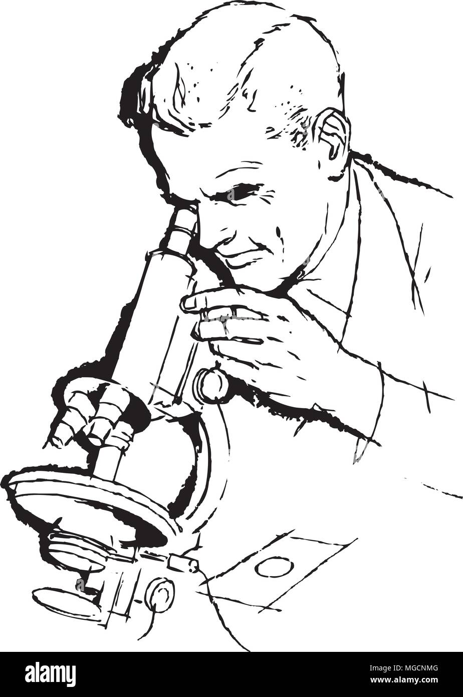 Scientist And Microscope Retro Clipart Illustration Stock Vector Image Art Alamy Any pictures from dynamicpickaxe can be used for your creativity! https www alamy com scientist and microscope retro clipart illustration image182218640 html