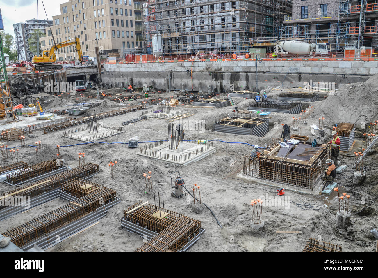 Construction Site At Amsterdam The Netherlands - Stock Image