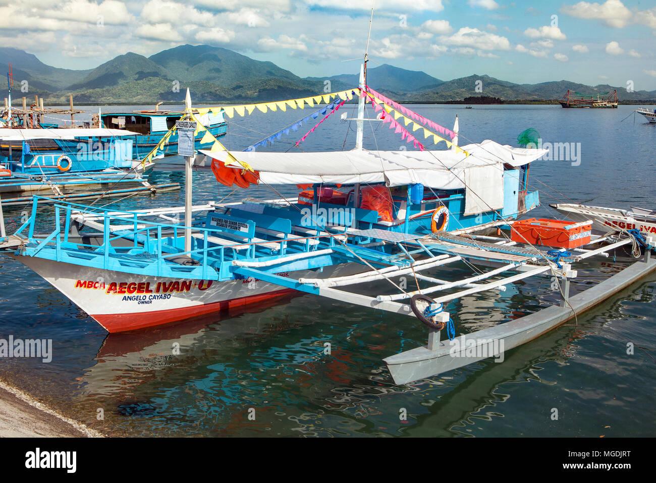 filipino inter island passenger pump boat known locally as a bangka