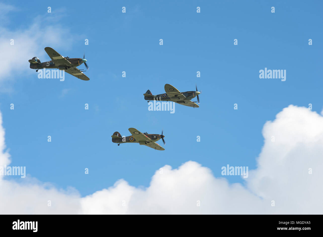 Spitfire & Hawker Hurricanes - Stock Image