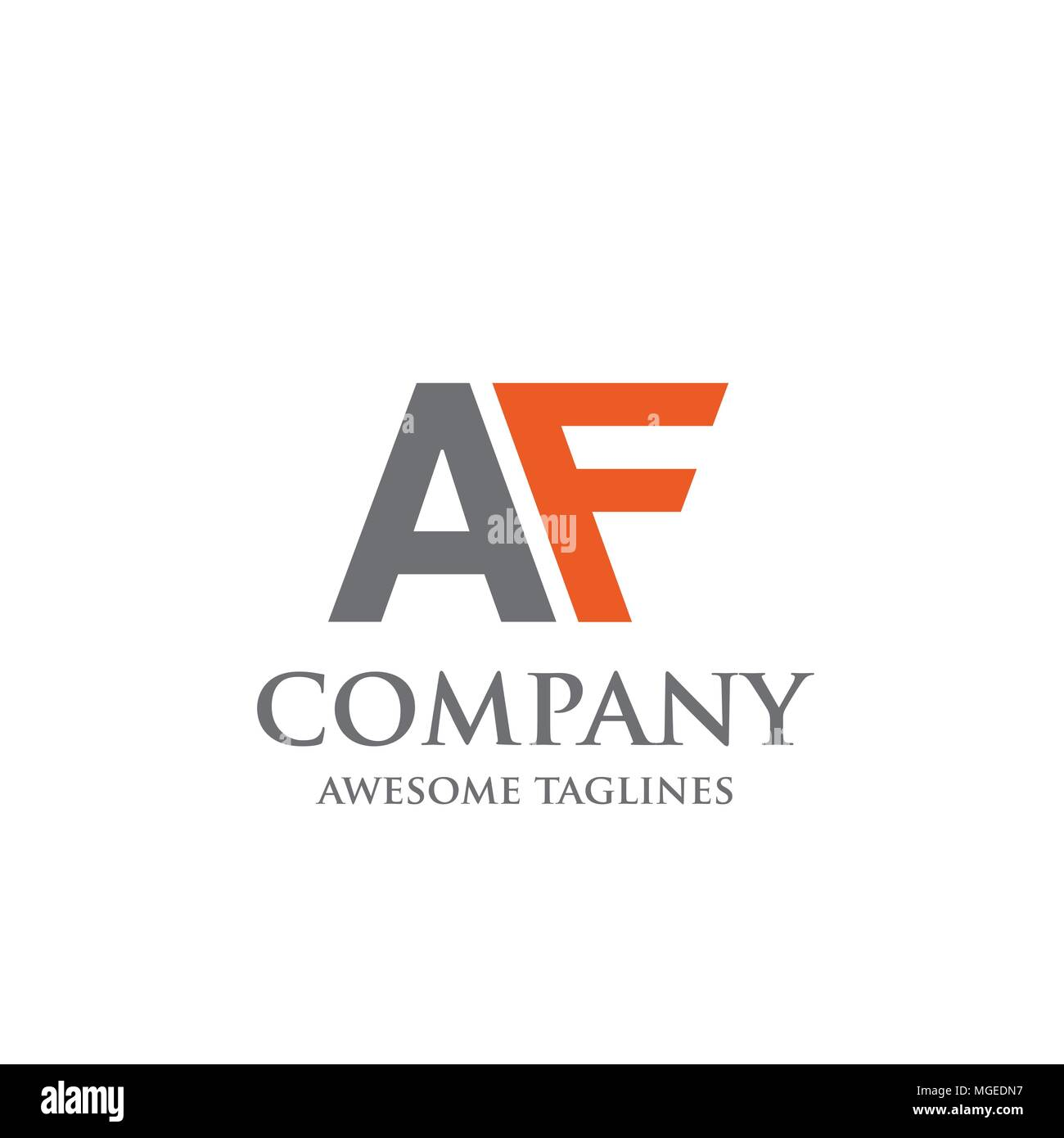 Creative letter af logo abstract business logo design template creative letter af logo abstract business logo design template modern letter af logo template editable for your business friedricerecipe Choice Image