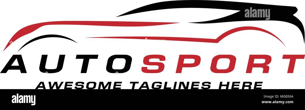Abstract Car Lines Vector Logo Design Concept Abstract Sport Car