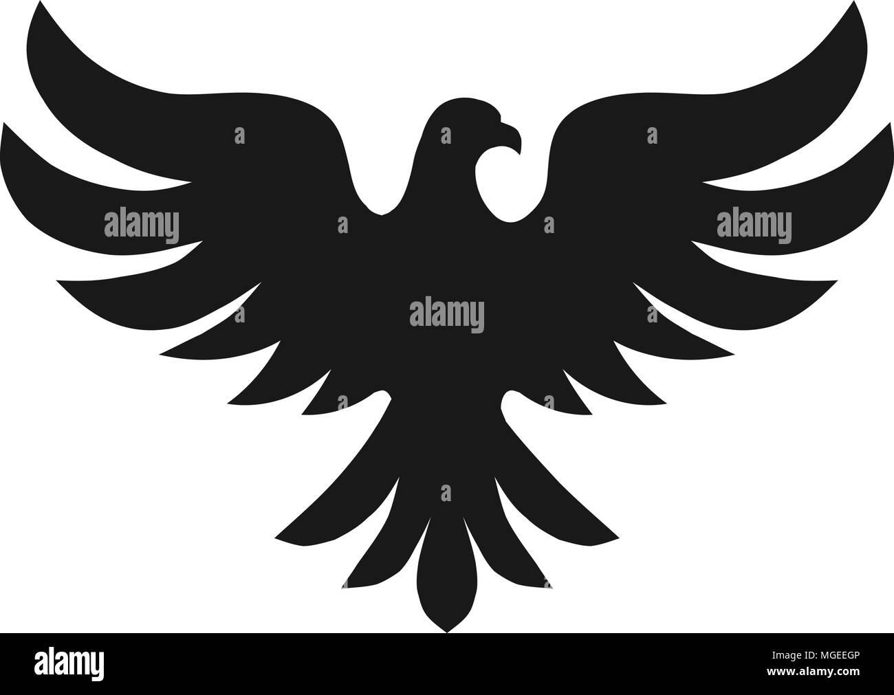 Bird With Silhouette Logo Concept Bird Logo Vector Dove Silhouette