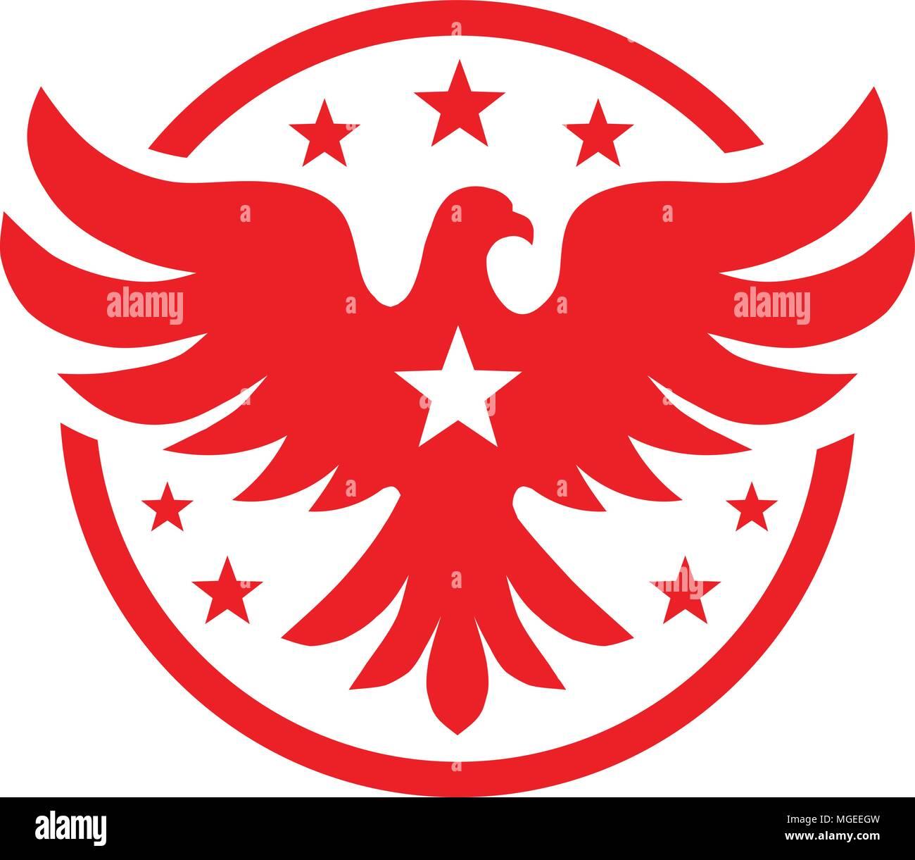 Bird With Stars Vector Logo Concept Bird Logo Vector Dove