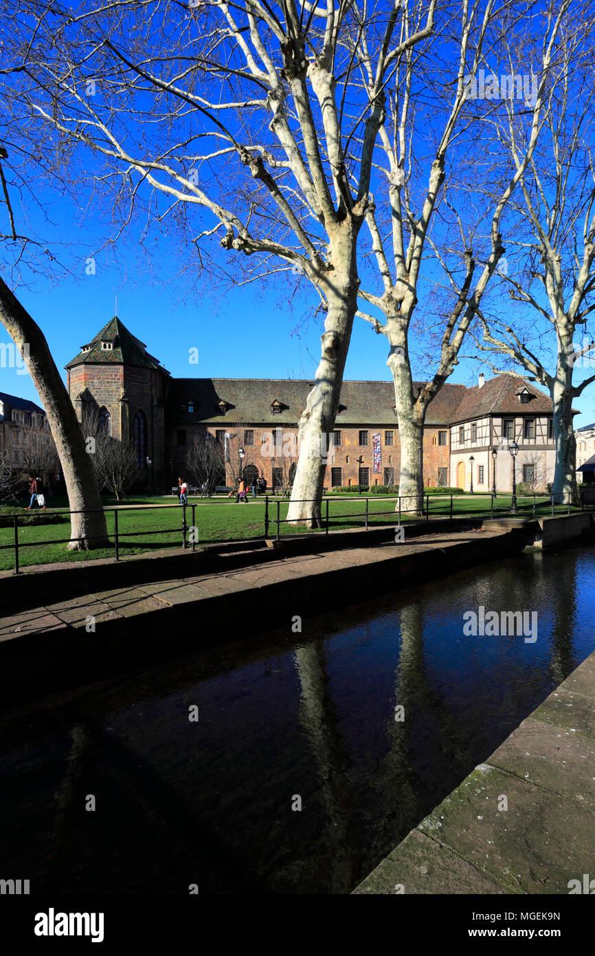 The Unterlinden Museum, Colmar town, Alsatian wine area, Alsace, France, Europe - Stock Image