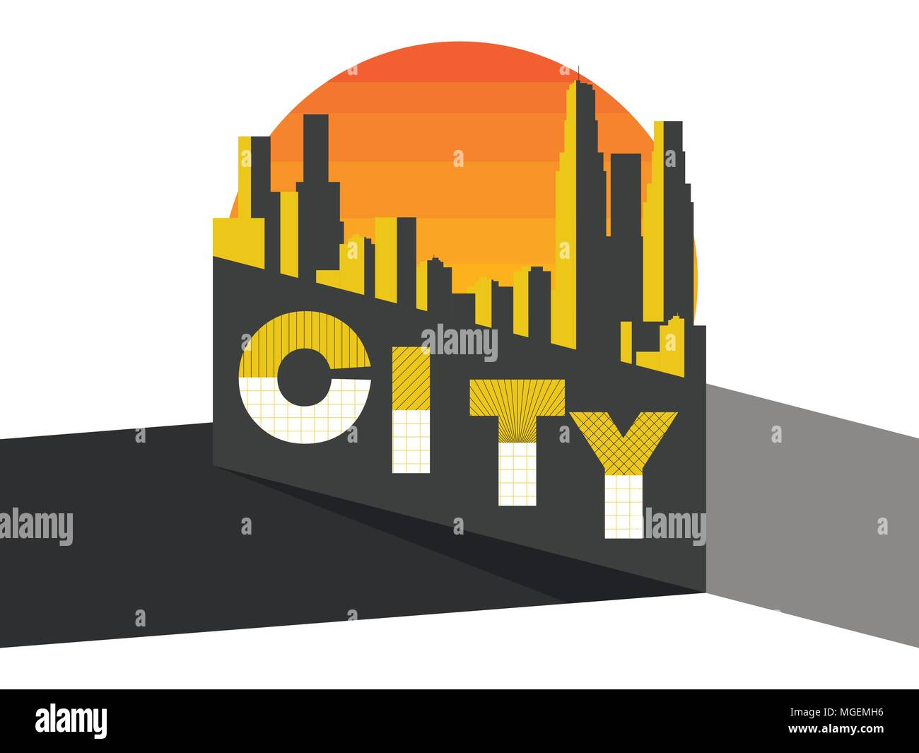 What Is Bauhaus Style city landscape on a modern city skyscrapers panorama vanguard and