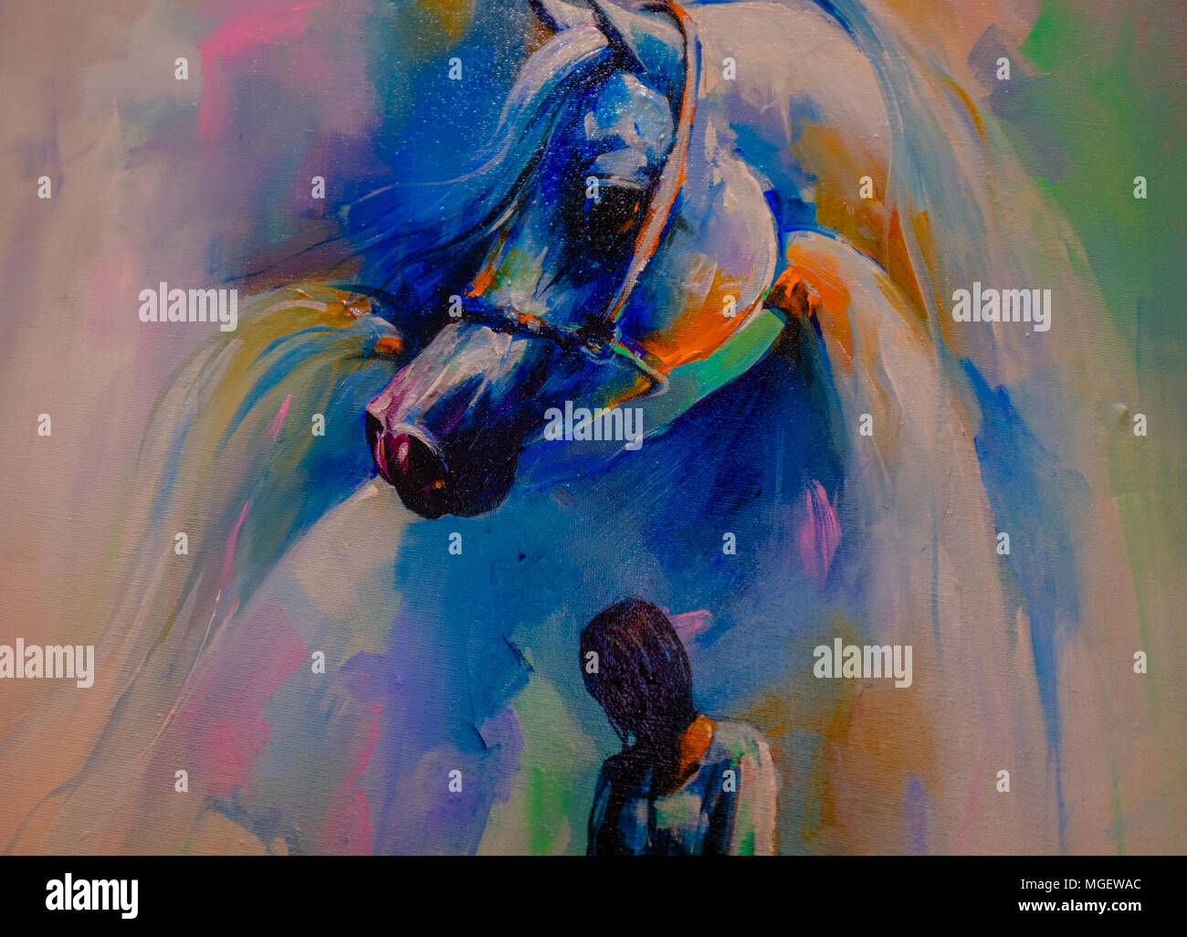Acrylic Painting Of Horse High Resolution Stock Photography And Images Alamy