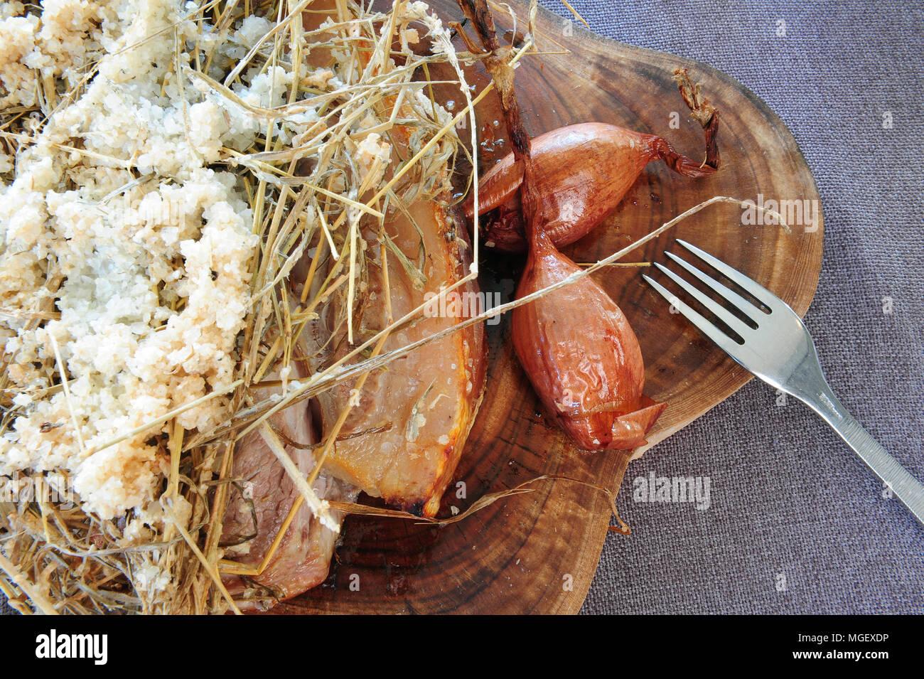 Caramelised Pork Chop With Cherrueix Shallots From La Table Du