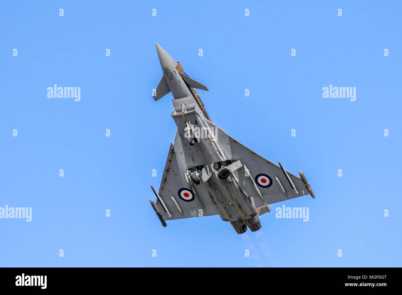 RAF Coningsby EF-2000 typhoon FGR4 Painted to commemorate 75yrs since the Battle of Britain Flying at Royal Air Force Fairford Airshow (RIAT) - Stock Image