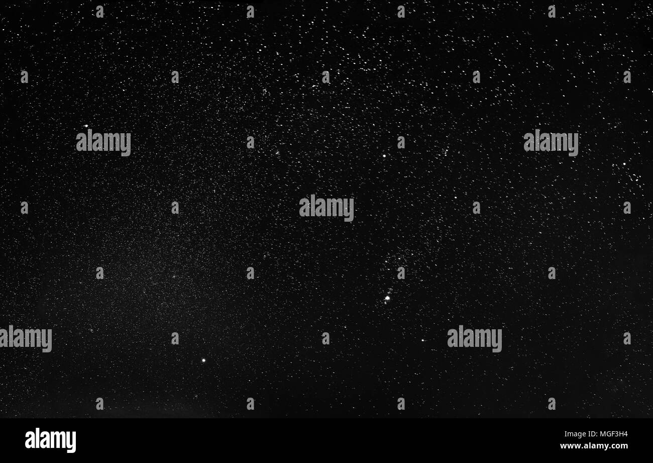 Night Starry Sky Background. Night View Of Natural Glowing Stars. - Stock Image