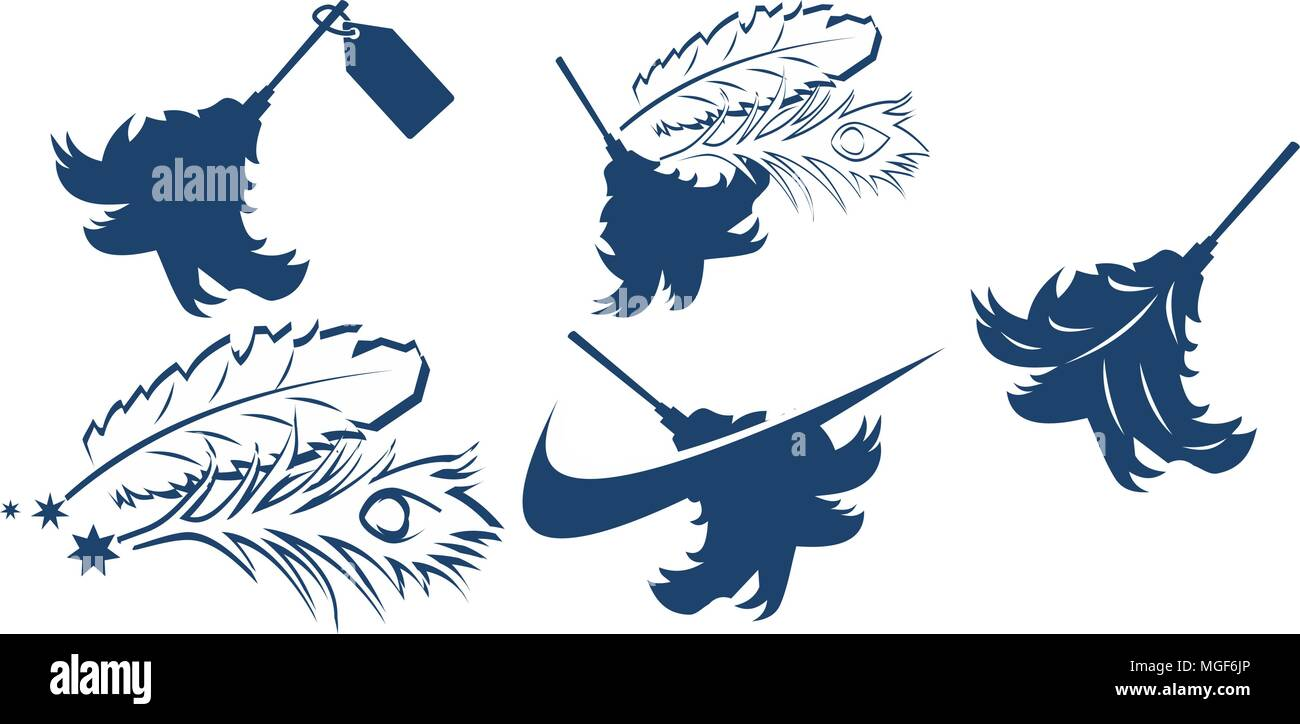 Dusted Feather Super Store Set - Stock Vector