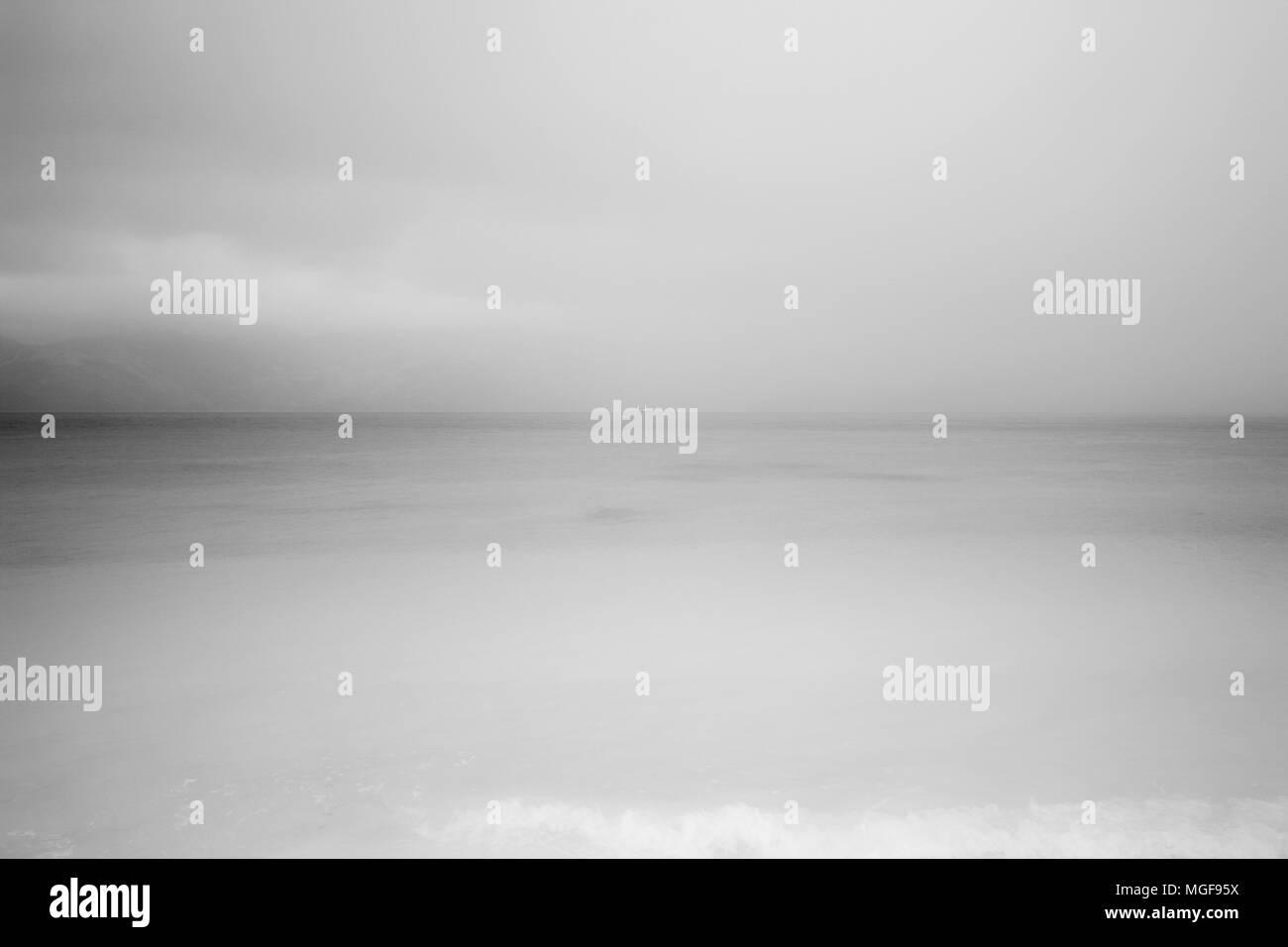Blured ocean. Gorontalo, Sulawesi. Indonesia - Stock Image