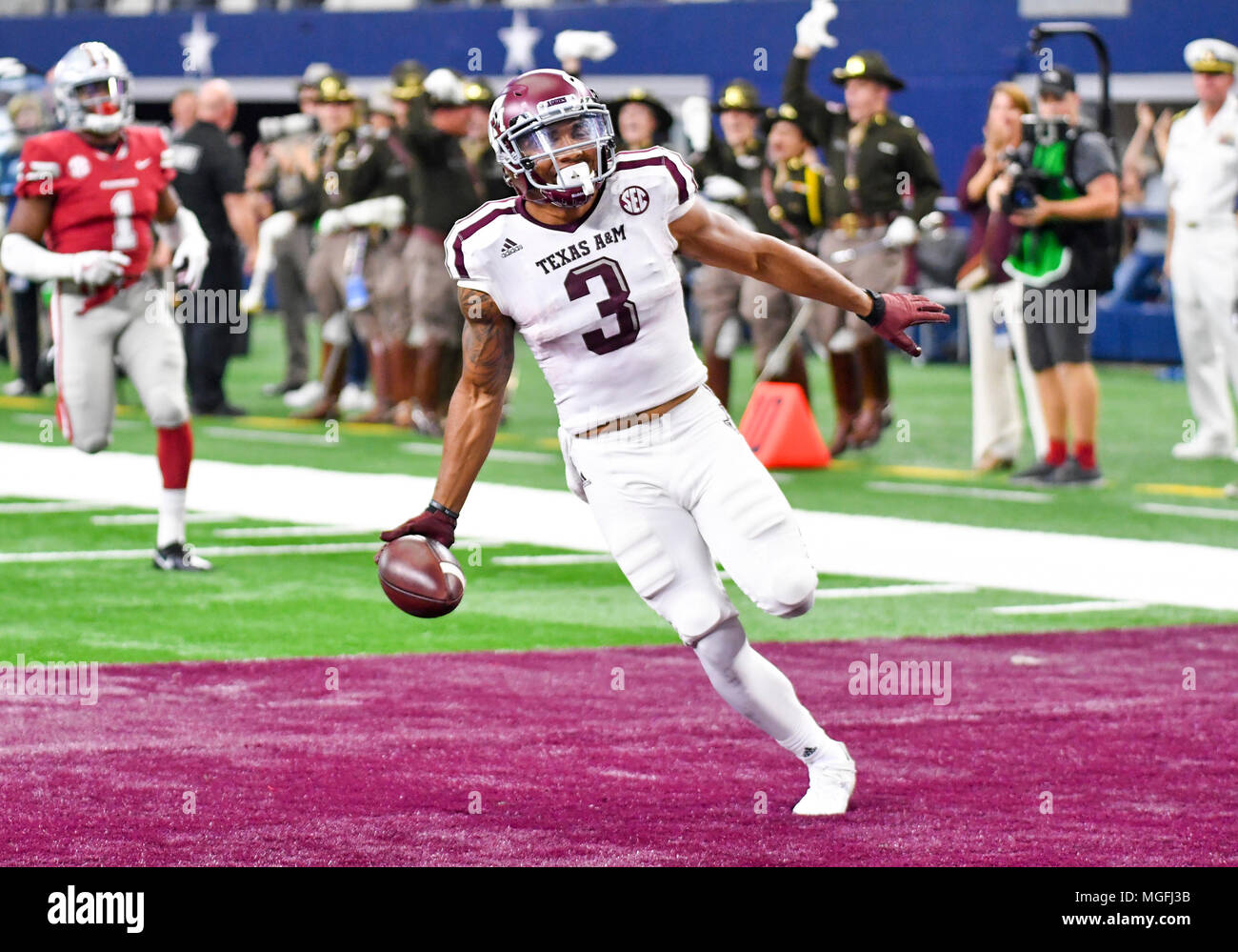 ... Texas A M Aggies wide receiver Christian Kirk  3 in the Southwest  Classic NCAA Football game between the Texas A M Aggies and the University  of Arkansas ... ae2891551