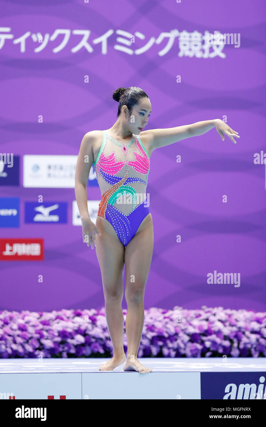 Phan Manh Nhi (VIE), APRIL 28, 2018 Artistic Swimming : The 94th Japan Artistic Swimming Championships Open 2018 Solo Free Routine Qualification at Tatsumi International Swimming Center, Tokyo, Japan. Credit: Naoki Morita/AFLO SPORT/Alamy Live News - Stock Image