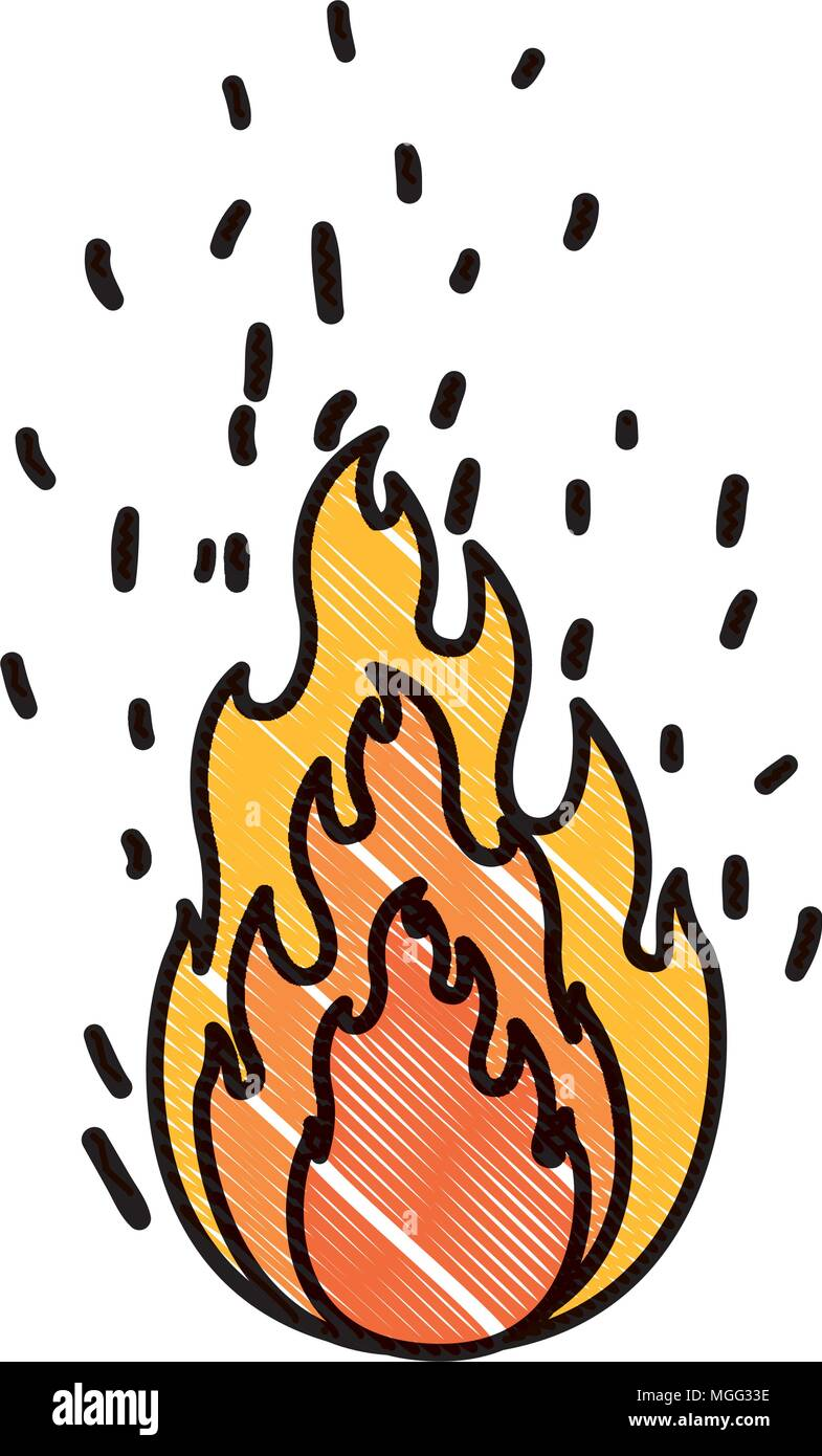 fire flame isolated icon - Stock Image