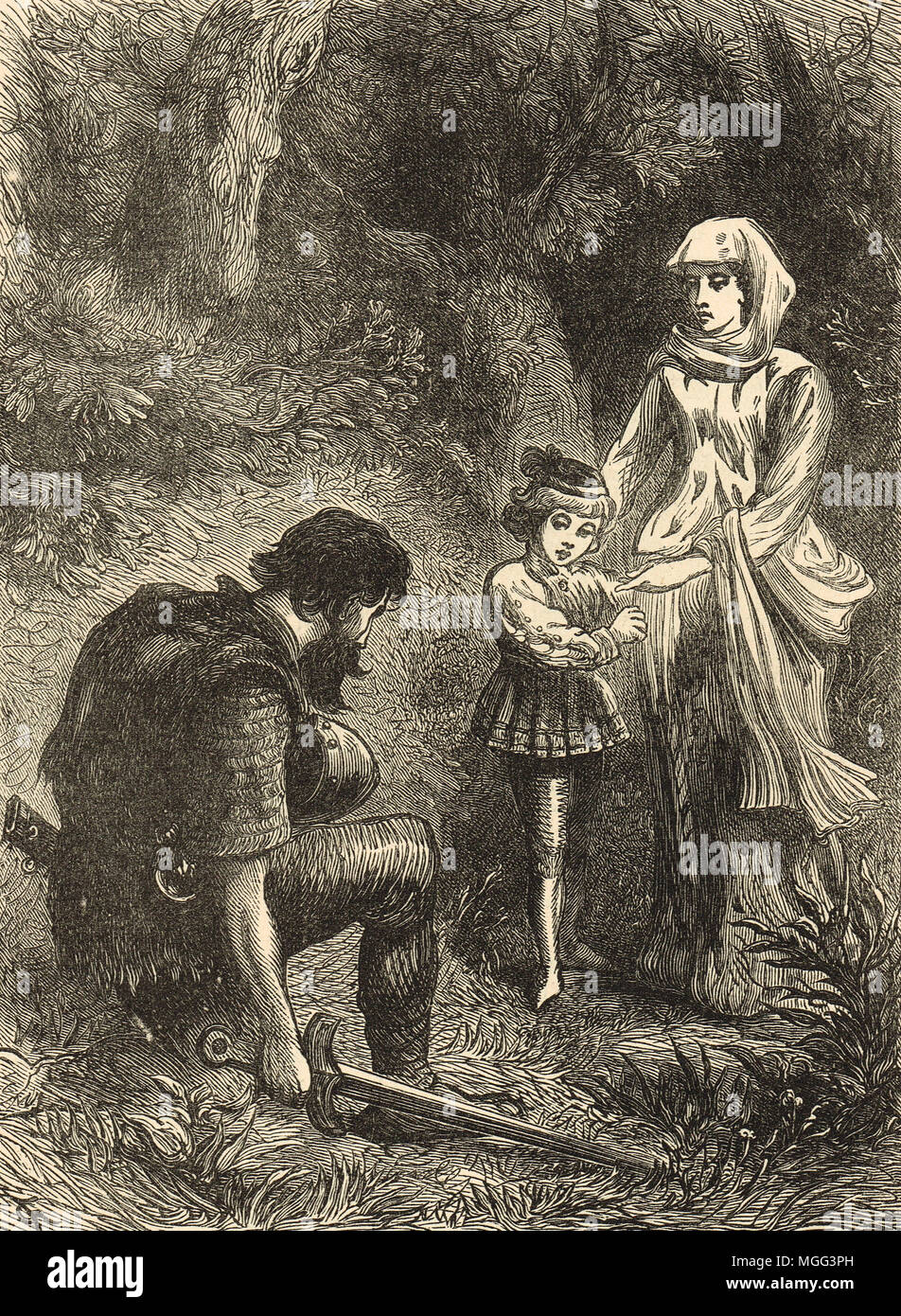 Queen Margaret of Anjou and the robber of Hexham - Stock Image