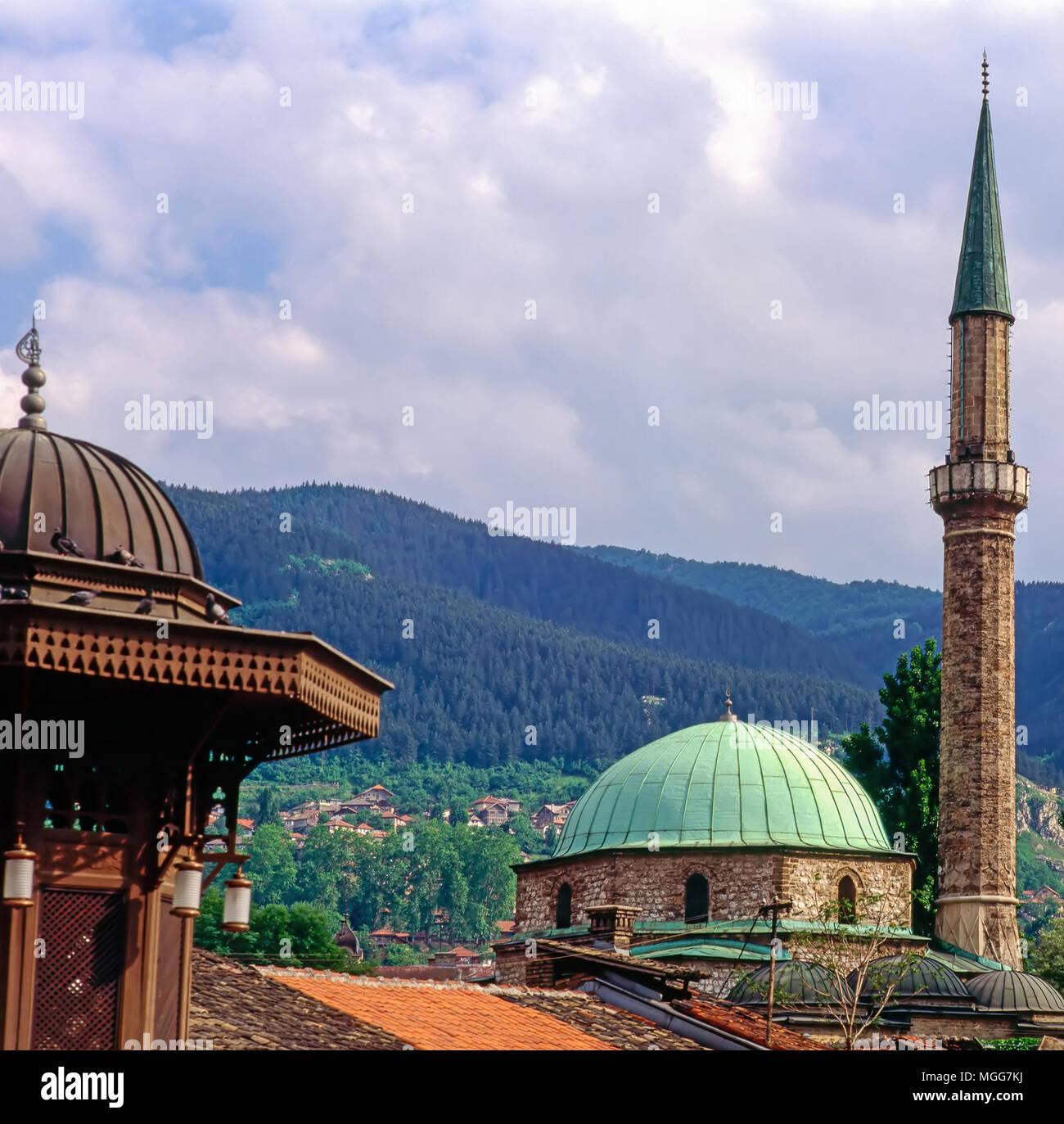 Old Town in Sarajevo,Bosnia-Herzegovina - Stock Image