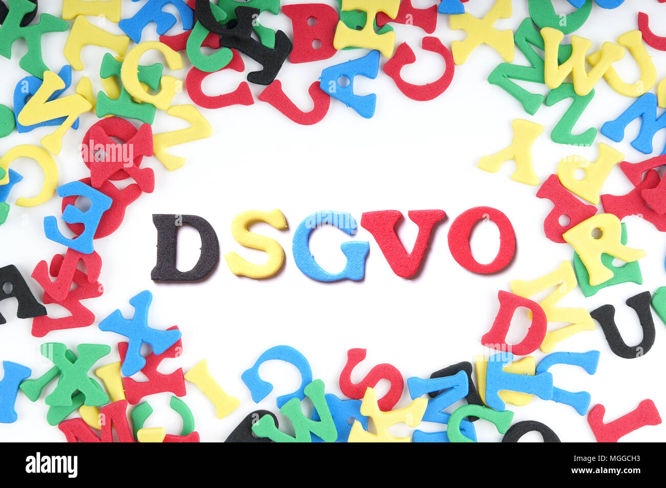 DSGVO is the German version of the general data protection regulation GDPR - Stock Image