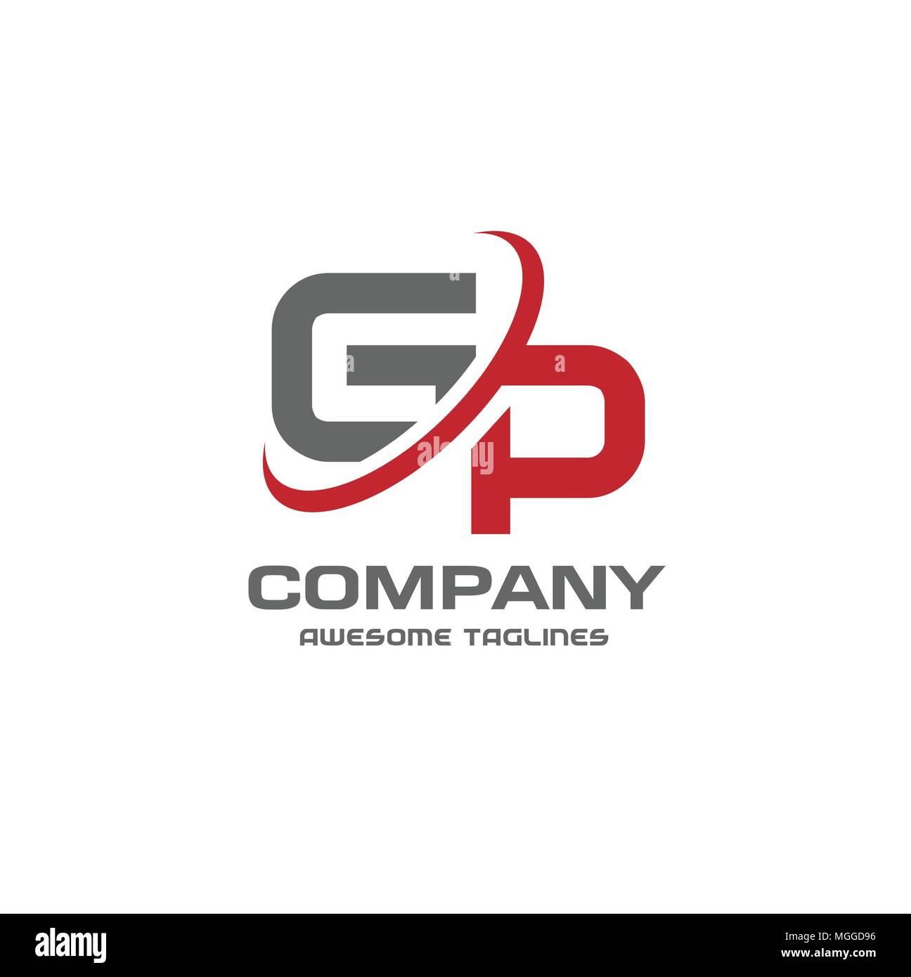 gp letter logo design vector illustration template g letter logo