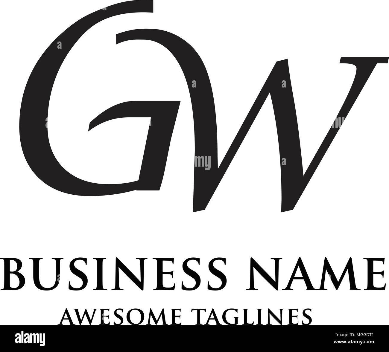 gw letter logo design vector illustration template g letter logo vector letter g and w logo vector creative letter gw letter logo letter g and w l